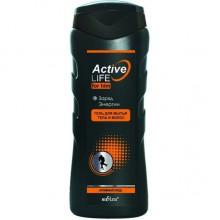ACTIVE LIFE Гель для мытья тела и волос для него Заряд энергии 250 мл