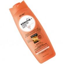 KERATIN+ЖИДКИЙ ШЕЛК Шампунь для всех типов волос Восстановление и Зеркальный блеск 500 мл