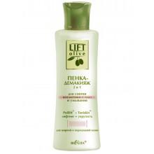 LIFT-OLIVE Пенка-демакияж 2 в 1 для снятия косметики с глаз и умывания 150 мл
