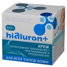 HIALURON+ Крем 60+ Интенсивное увлажнение+разглаживание и преображение для всех типов кожи 48г