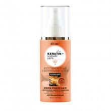 KERATIN+ЖИДКИЙ ШЕЛК Флюид для всех типов волос несмываемый Восстановление и Зеркальный блеск 50 мл