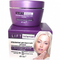 LIFT INTENSE Крем-лифтинг для лица ночнойразглаживание и восстановление с гиалуроновой кислотой и имбирем 45 мл