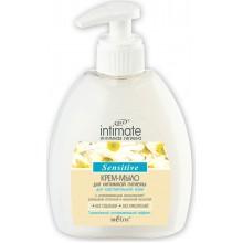 INTIMATE Крем-мыло для интимной гигиены для чувствительной кожи Sensitive 300 мл